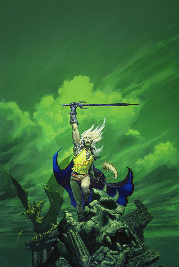 Cover art by Michael Whelan for Michael Moorcock's STORMBRINGER.