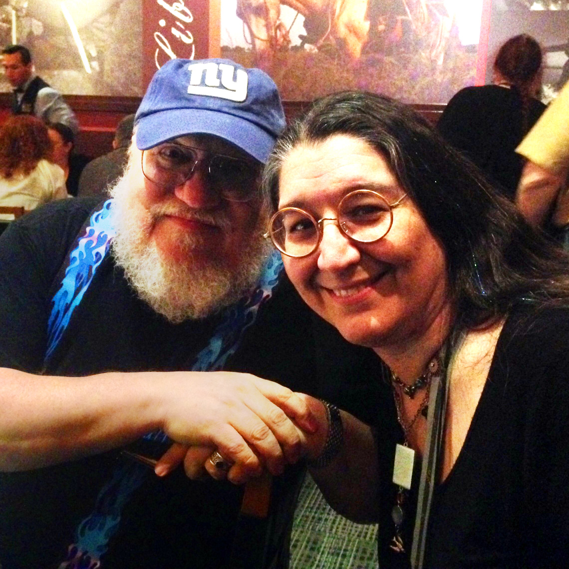 George R. R. Martin and Nora Echeverria at the Balticon 50 Guest of Honor Dinner.