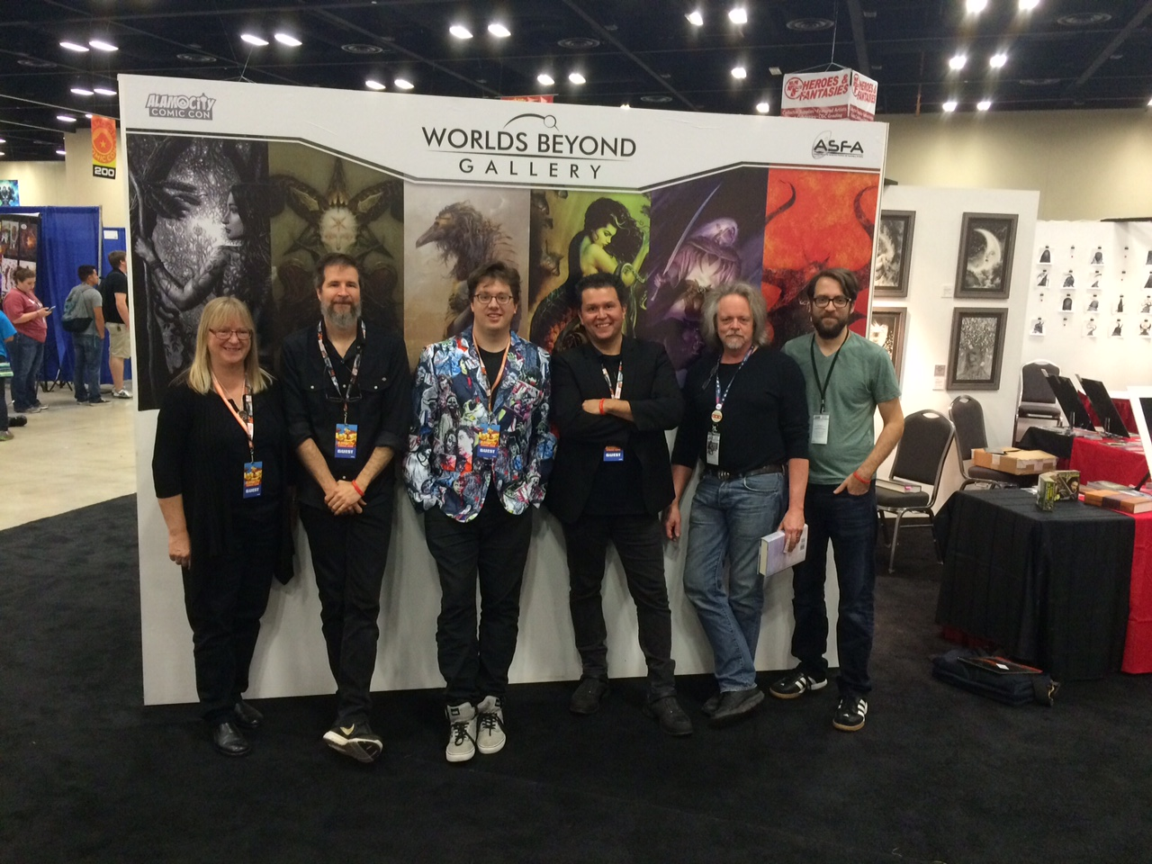 The Worlds Beyond Gallery Artists / Alamo City Comic Con 2016: Ruth Sanderson, Brom, Peter Mohrbacher, John Picacio, Todd Lockwood, and Jeffrey Alan Love.
